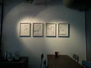 Photo from the installation of I'm Going to Where You're Coming From.